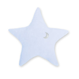Decorative cushion  30cm STARY Stars print light blue