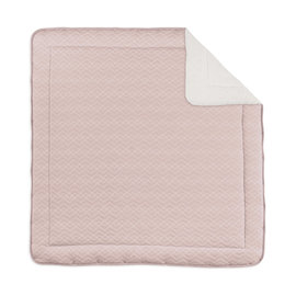 Playpen mat Pady quilted jersey + jersey 100x100cm OSAKA Old pink