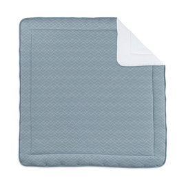 Playpen mat Quilted 100x100cm OSAKA Mineral blue
