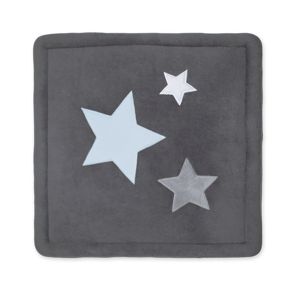 Playpen mat Pady softy + terry 100x100cm STARB Little stars print grey