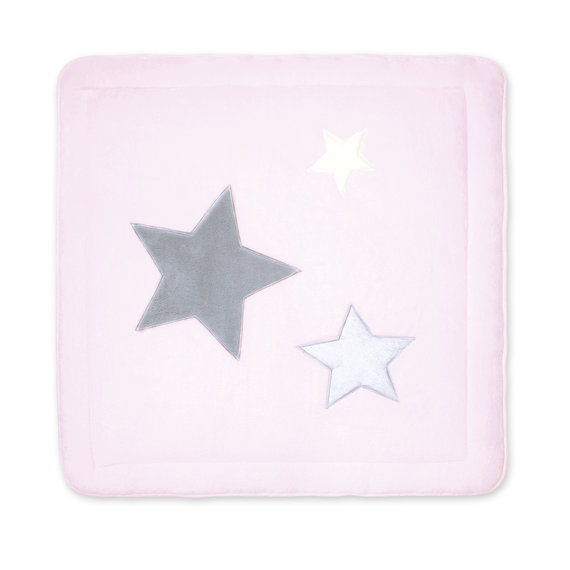 Playpen mat Pady softy + terry 100x100cm STARY Baby pink