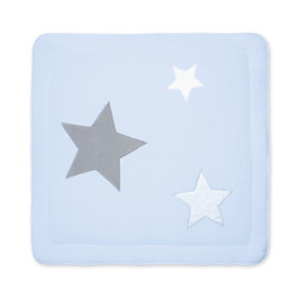 Playpen mat  100x100cm STARY Stars print light blue