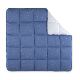 Playpen mat  100x100cm STARY Little stars print denim