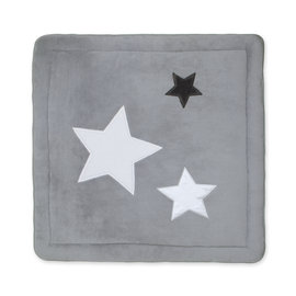 Playpen mat Softy 100x100cm STARY Little stars print medium grey