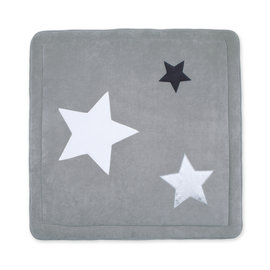 Playpen mat Terry 100x100cm STARY Little stars print medium grey