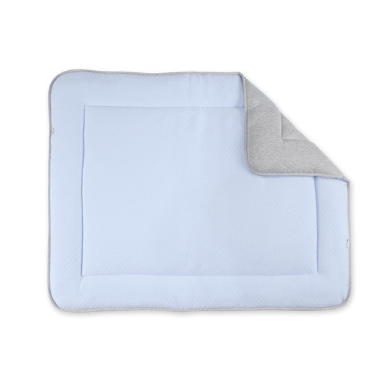 Padded play mat Pady quilted jersey 75x95cm BEMINI Light blue