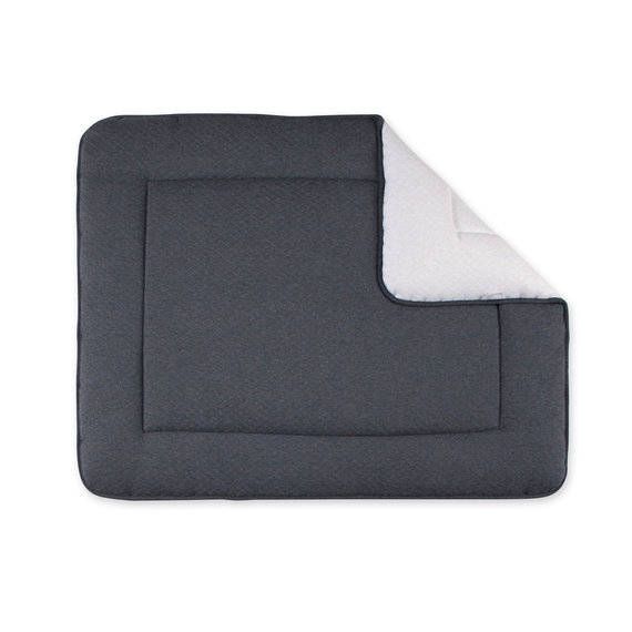 Padded play mat Pady quilted jersey 75x95cm BEMINI Charcoal grey marled