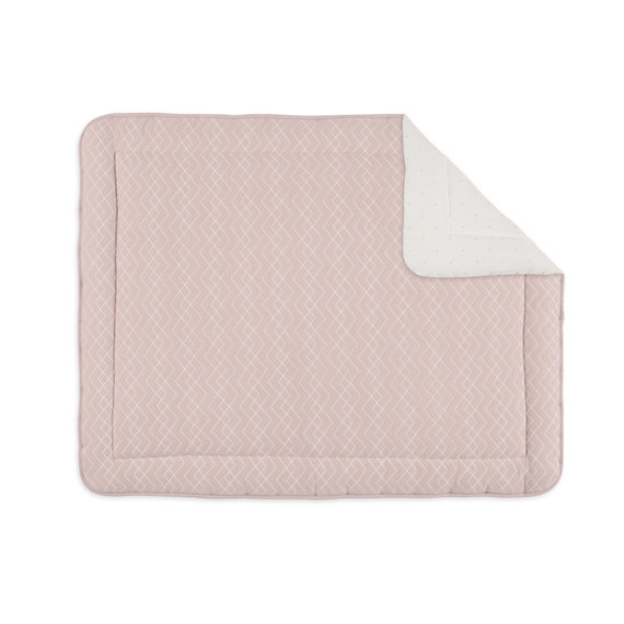 Padded play mat Pady quilted jersey + jersey 75x95cm OSAKA Old pink