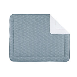 Padded play mat Quilted 75x95cm OSAKA Mineral blue