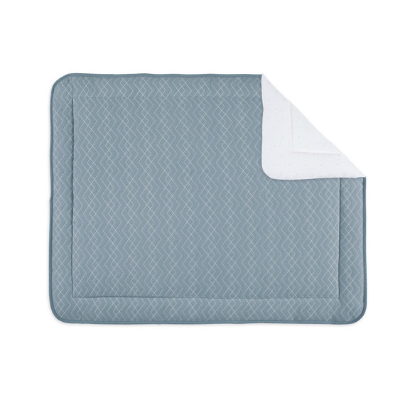 Padded play mat Pady quilted 75x95cm OSAKA Mineral blue