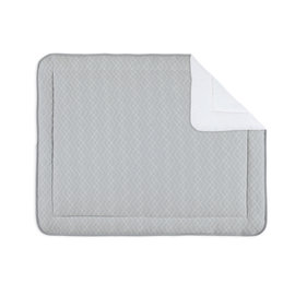 Padded play mat Quilted 75x95cm OSAKA Medium grey