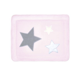 Padded play mat Pady softy + terry 75x95cm STARY Baby pink