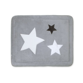 Padded play mat Softy 75x95cm STARY Little stars print medium grey