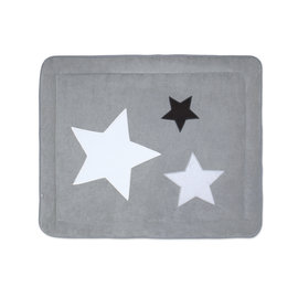 Padded play mat Terry 75x95cm STARY Little stars print medium grey