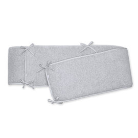 Playpen bumper Pady terry + terry 100x100x28cm STARY Grey marled
