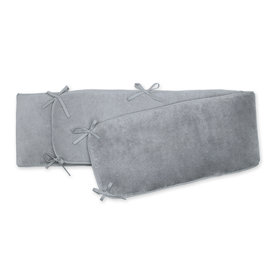 Playpen bumper Pady softy + terry 75x95x28cm  Medium grey