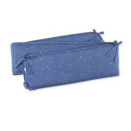 Crib bumper  20x180cm STARY Little stars print denim