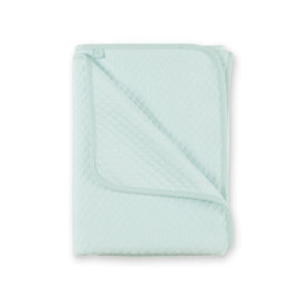 Blanket Quilted jersey 75x100cm BEMINI Light mint