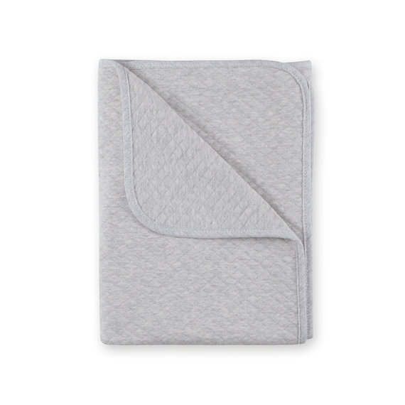 Blanket Quilted jersey 75x100cm BEMINI Grey marled tog 1.5