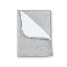 Couverture Pady quilted + teddy 75x100cm OSAKA Gris moyen