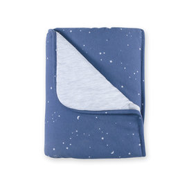 Blanket Jersey 75x100cm STARY Little stars print denim
