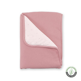 Couverture Pady waffle + jersey bio 75x100cm WAFLE Rose indien