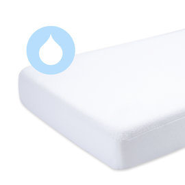 Crib mattress protector Terry + enduction 40x90cm  White