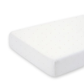 Crib sheet  40x90cm CHOUX Small dot print ecru