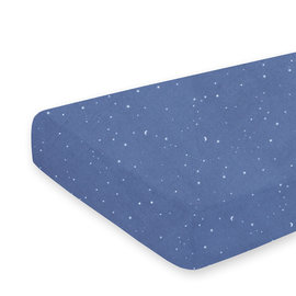Crib sheet Jersey 40x90cm STARY Little stars print denim