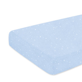 Playpen sheet Jersey 75x95cm STARY Stars print light blue