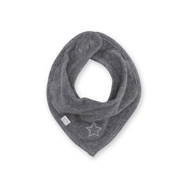 Bib waterproof  25cm STARY Little stars print grey