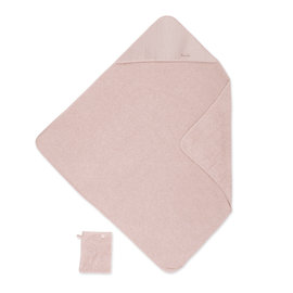 Bath cape Terry 90x90cm CADUM Old pink