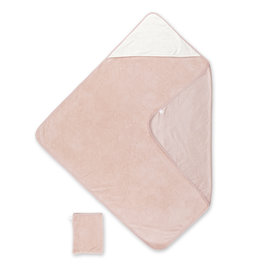 Bath cape Bamboo 90x90cm CHOUX Small dot print old pink