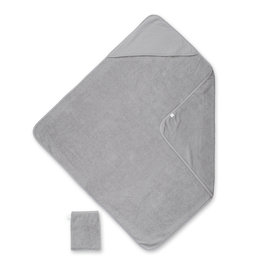Bath cape Terry 90x90cm DUNES Stripe grey ecru