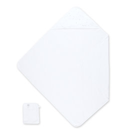 Bath cape Bamboo 90x90cm STARY Little stars white