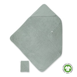 Bath cape Terry 90x90cm WAFLE Celadon green