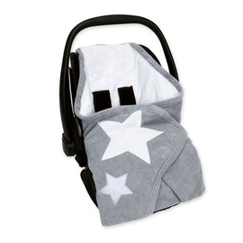 Biside® Terry + terry 0-12m STARY Little stars print medium grey