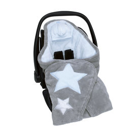 Biside® Softy + softy 0-12m STARY Stars print light blue