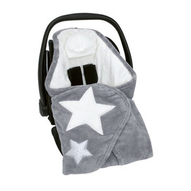 Biside® Softy + softy 0-12m STARY Little stars print medium grey