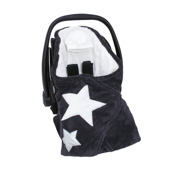 Biside® Softy + softy 0-12m STARY Little stars print charcoal grey