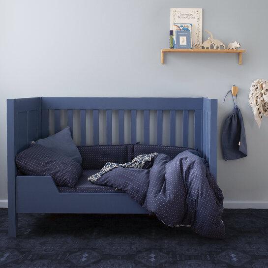 ambiance 490YOSHI67HU Blanket Pady jersey + teddy 75x100cm YOSHI Blue geometric print